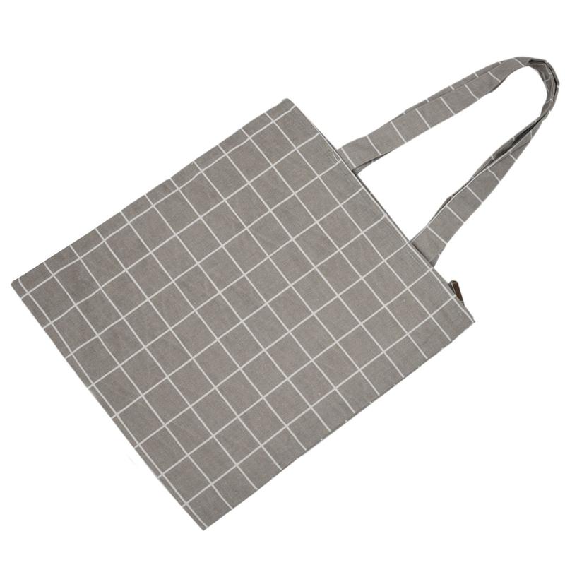 Frauen-Student-Baumwolle-Leinwand-Mode-Plaid-Schulter-Handtasche-Handtasc-K6X2 Indexbild 16