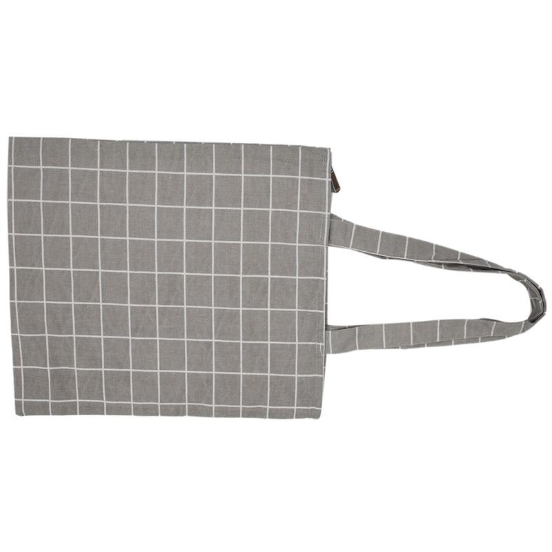 Frauen-Student-Baumwolle-Leinwand-Mode-Plaid-Schulter-Handtasche-Handtasc-K6X2 Indexbild 17