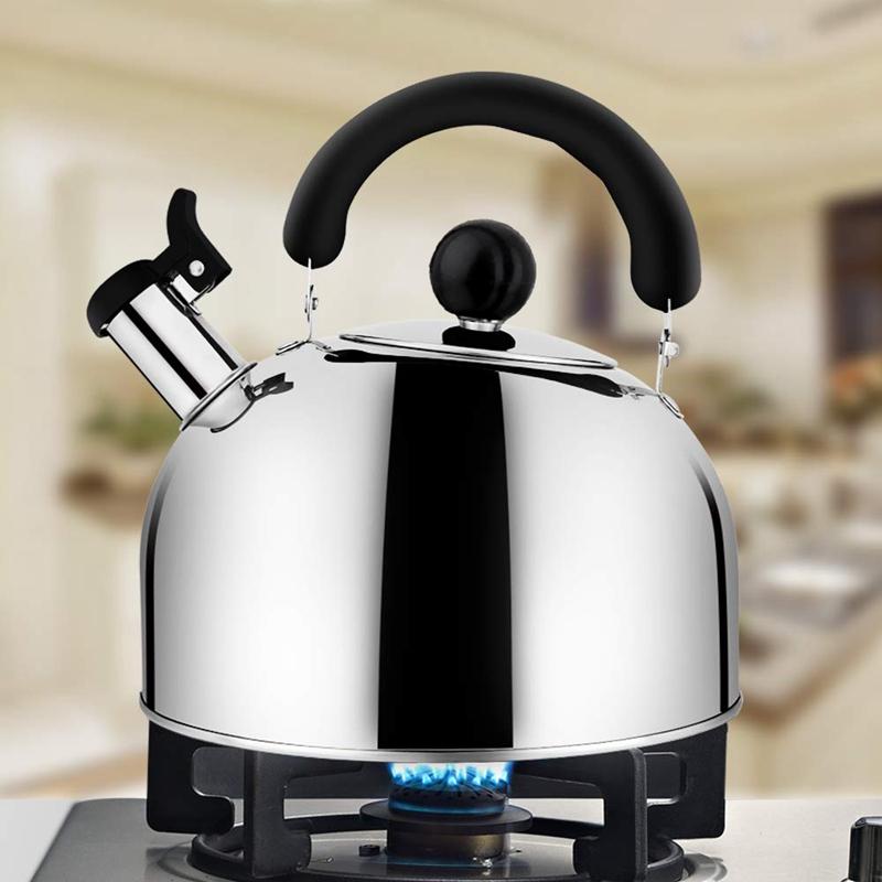 Pfeifen Tee Wasserkocher Edelstahl Herd Teekessel Robuste Teekanne für Tee