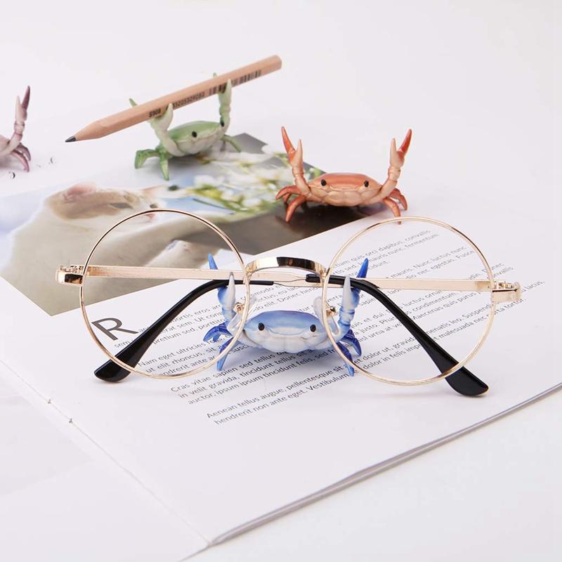 2X-New-Creative-Cute-Crab-Pen-Holder-Weightlifting-Crabs-Pen-Holder-BracketW3D5 thumbnail 5
