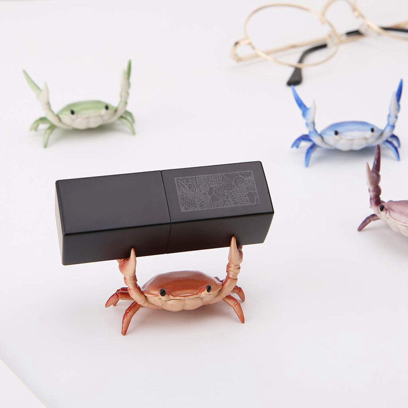 2X-New-Creative-Cute-Crab-Pen-Holder-Weightlifting-Crabs-Pen-Holder-BracketW3D5 thumbnail 10