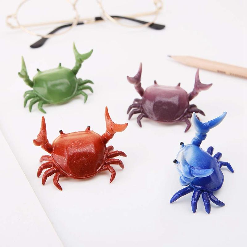 2X-New-Creative-Cute-Crab-Pen-Holder-Weightlifting-Crabs-Pen-Holder-BracketW3D5 thumbnail 22