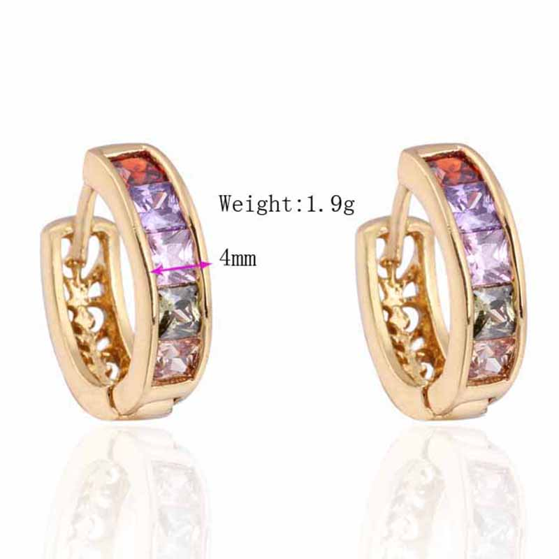 1X-Fashion-Classic-Micro-Inlaid-Zircon-Crystal-European-Women-Simple-Round-C4M8 thumbnail 3