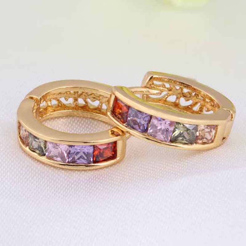 1X-Fashion-Classic-Micro-Inlaid-Zircon-Crystal-European-Women-Simple-Round-C4M8 thumbnail 4