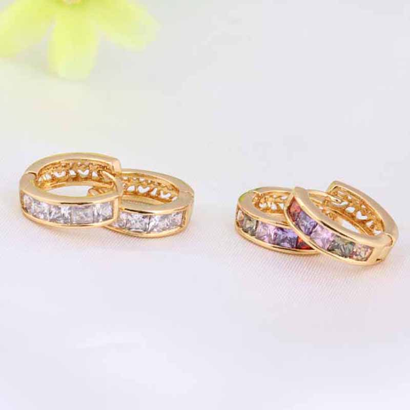 1X-Fashion-Classic-Micro-Inlaid-Zircon-Crystal-European-Women-Simple-Round-C4M8 thumbnail 7