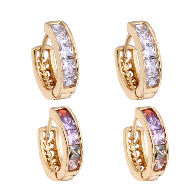 1X-Fashion-Classic-Micro-Inlaid-Zircon-Crystal-European-Women-Simple-Round-C4M8 thumbnail 19