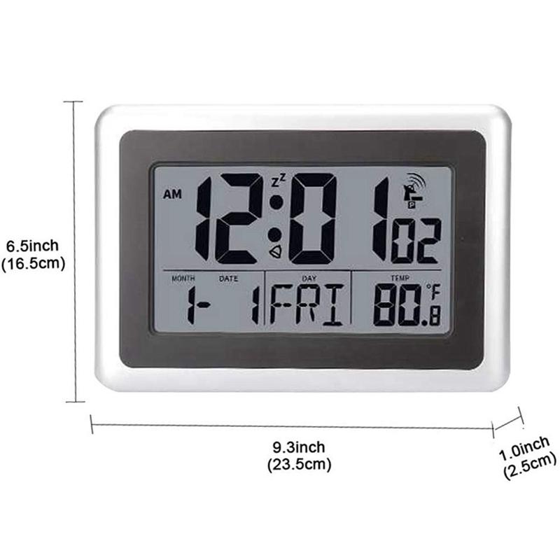 World Time Modern Digital LED Large Display LCD Alarm Clock Battery Operated UK