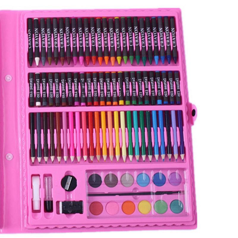 2X-168-Art-Set-Pintura-Acuarela-Herramientas-de-Dibujo-Art-Marker-Brush-Pen-W4N3 miniatura 3