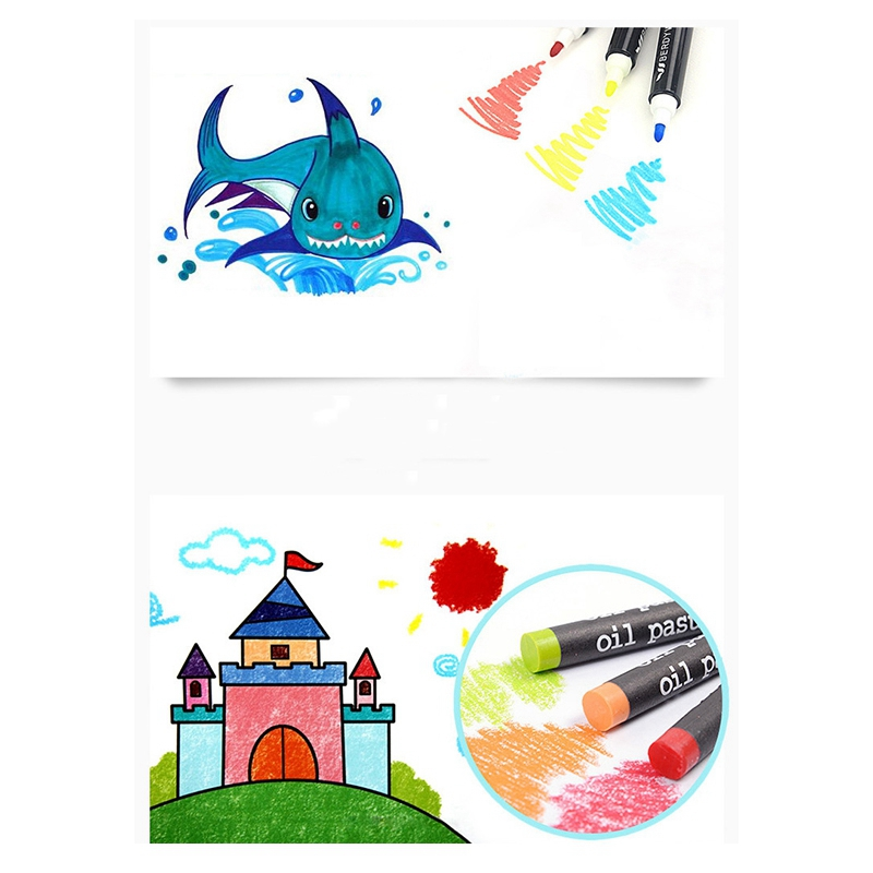 2X-168-Art-Set-Pintura-Acuarela-Herramientas-de-Dibujo-Art-Marker-Brush-Pen-W4N3 miniatura 5