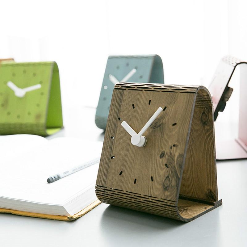 2X-Minimaliste-Salon-Horloge-Europeenne-Table-Tenture-Murale-Pendule-de-Tab-C7R2 miniature 11