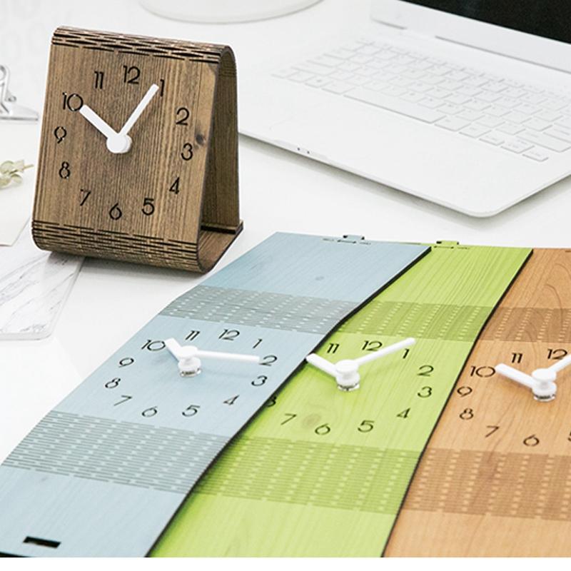 2X-Minimaliste-Salon-Horloge-Europeenne-Table-Tenture-Murale-Pendule-de-Tab-C7R2 miniature 14