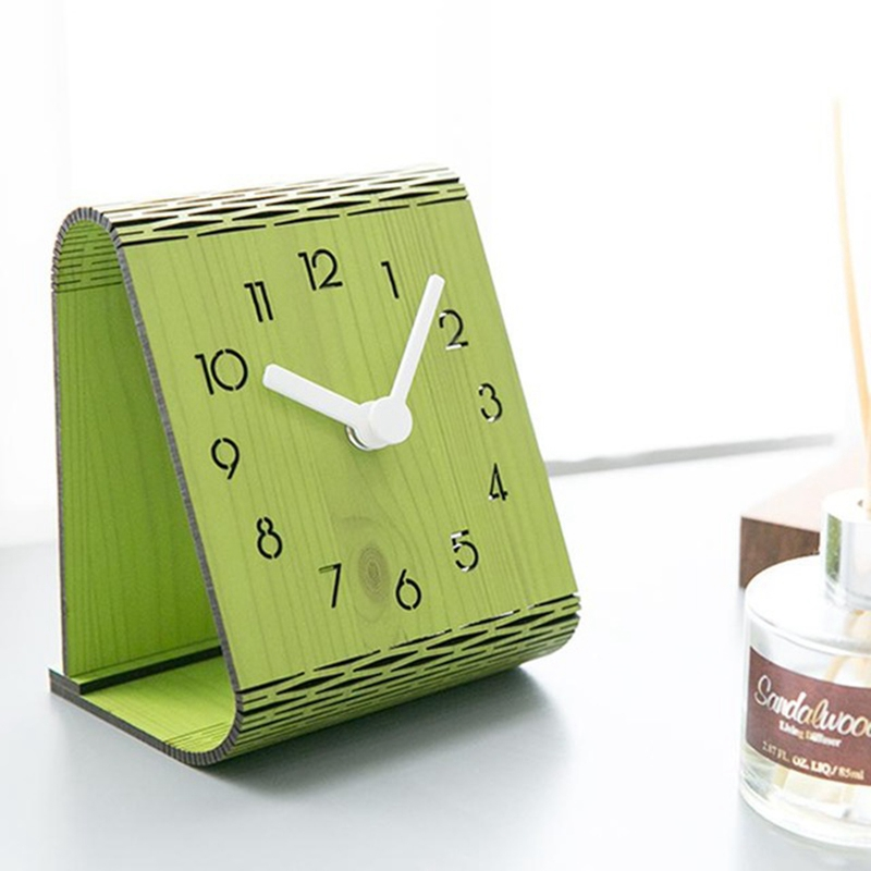 2X-Minimaliste-Salon-Horloge-Europeenne-Table-Tenture-Murale-Pendule-de-Tab-C7R2 miniature 17
