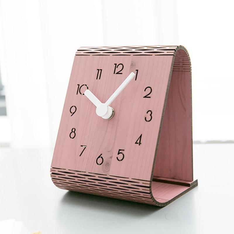 2X-Minimaliste-Salon-Horloge-Europeenne-Table-Tenture-Murale-Pendule-de-Tab-C7R2 miniature 24