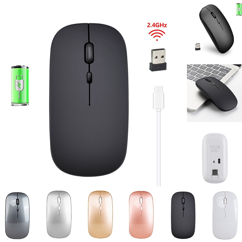 1600-Dpi-Usb-Optical-Wireless-Computer-Mouse-2-4G-Receiver-Super-Slim-Mouse-D4H3 thumbnail 6