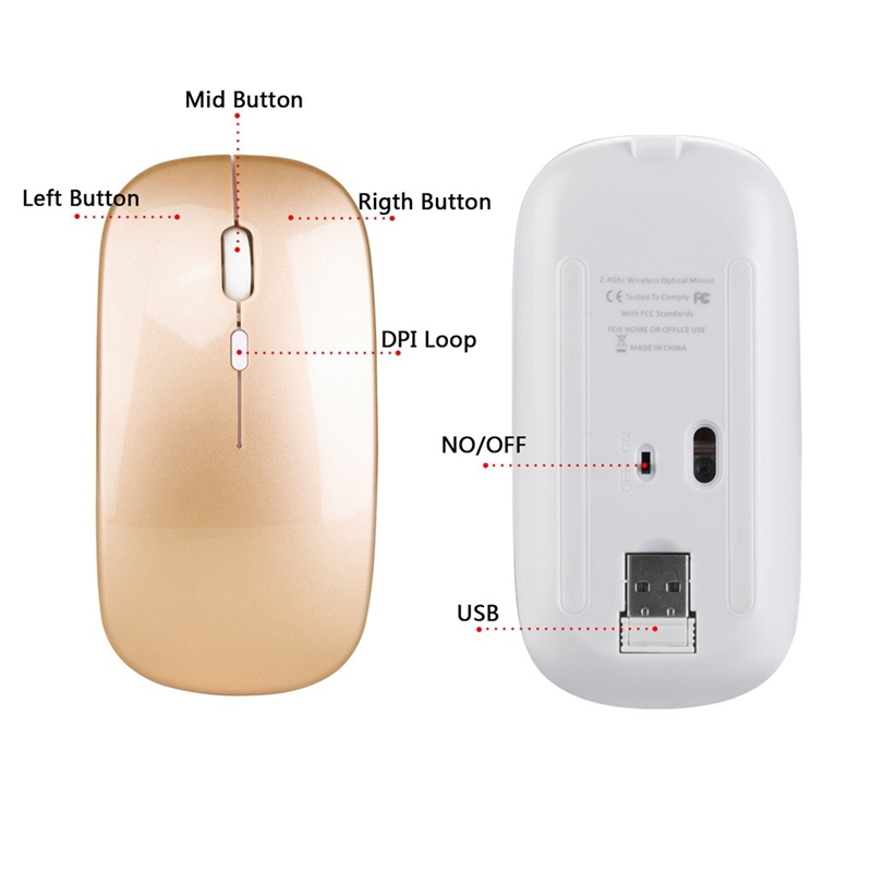 1600-Dpi-Usb-Optical-Wireless-Computer-Mouse-2-4G-Receiver-Super-Slim-Mouse-L2A2 thumbnail 22