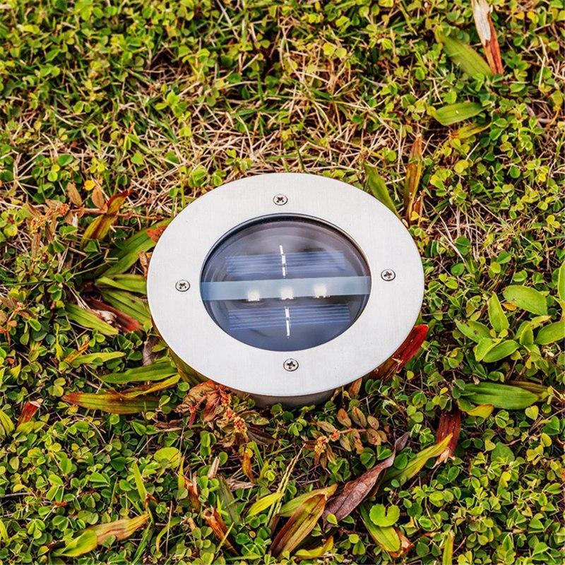 Lampes-Solaires-3-Led-sur-L-039-Eclairage-Solaire-3-Led-Enterre-Lumiere-Lumiere-L7I8 miniature 6