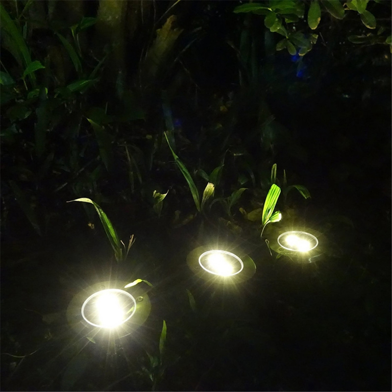 Lampes-Solaires-3-Led-sur-L-039-Eclairage-Solaire-3-Led-Enterre-Lumiere-Lumiere-L7I8 miniature 8