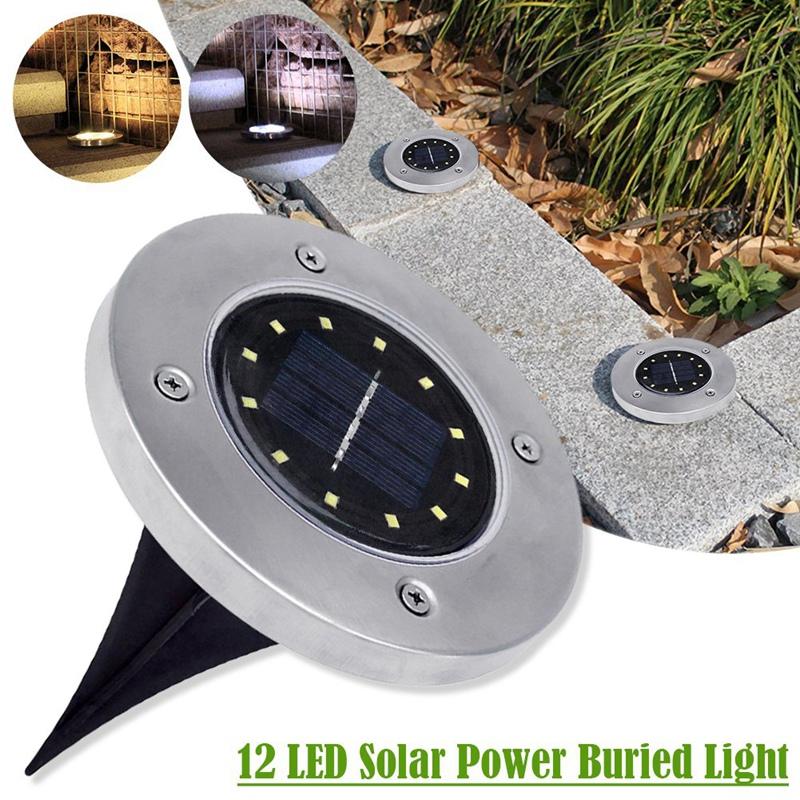 4pcs 8 LED Solar Power Begraben Licht Unter Boden Lampe Außenweg Garten Dekor