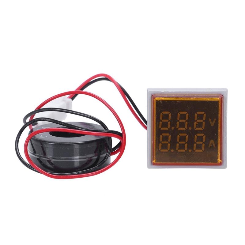 Led-Digital-Dual-Display-Voltmeter-Amperemeter-Voltage-Gauge-Meter-Ac-60-M9D5 Indexbild 3