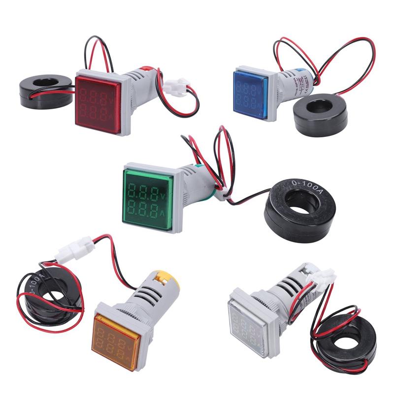 Led-Digital-Dual-Display-Voltmeter-Amperemeter-Voltage-Gauge-Meter-Ac-60-M9D5 Indexbild 19