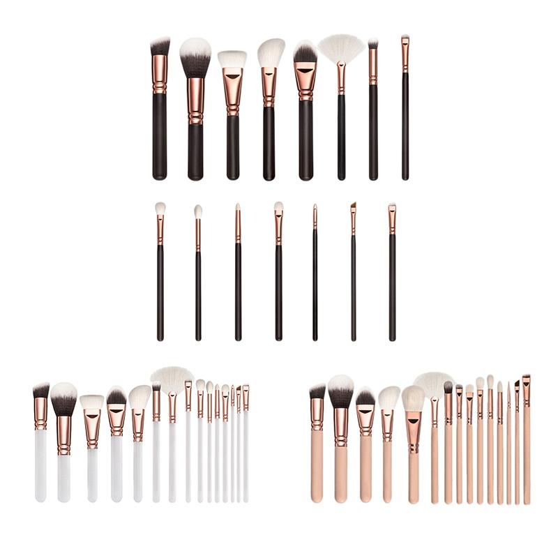 RANCAI-15-Stuecke-Rosa-Make-Up-Pinsel-Set-Pincel-Maquiagem-Pulver-Auge-Kabuk-N4M Indexbild 3