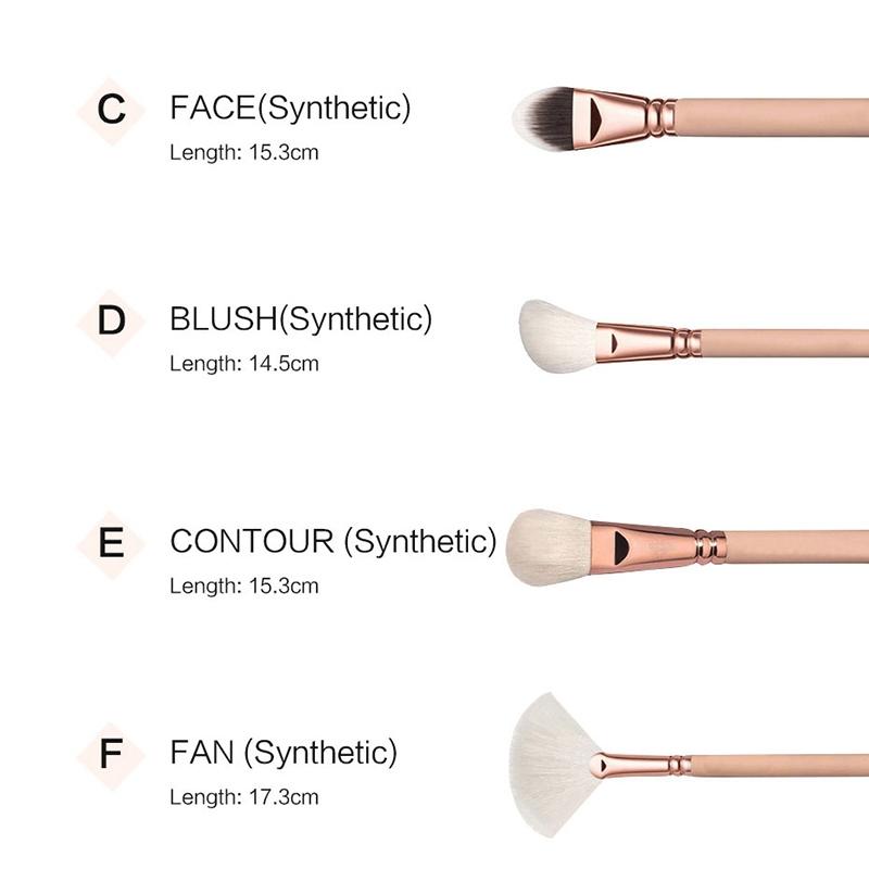 RANCAI-15-Stuecke-Rosa-Make-Up-Pinsel-Set-Pincel-Maquiagem-Pulver-Auge-Kabuk-N4M Indexbild 5
