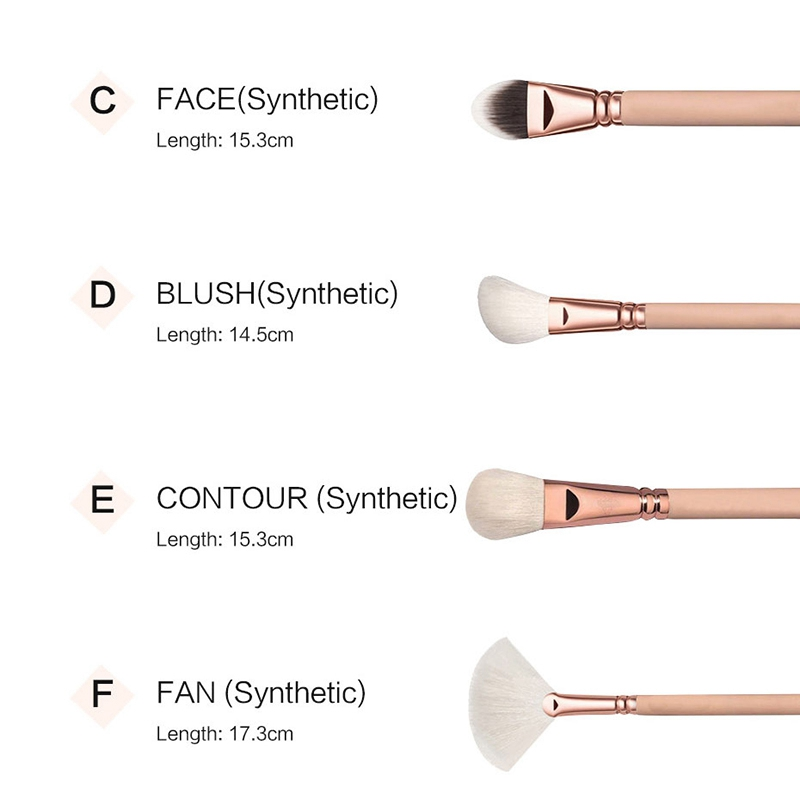 RANCAI-15-Stuecke-Rosa-Make-Up-Pinsel-Set-Pincel-Maquiagem-Pulver-Auge-Kabuk-N4M Indexbild 13