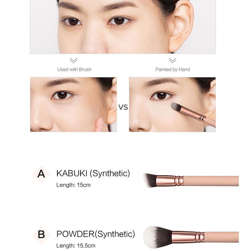 RANCAI-15-Stuecke-Rosa-Make-Up-Pinsel-Set-Pincel-Maquiagem-Pulver-Auge-Kabuk-N4M Indexbild 19