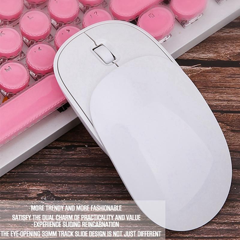 Drahtlose-Wiederaufladbare-Maus-Ultraduennes-Design-Notebook-Business-Office-X7M3 Indexbild 9