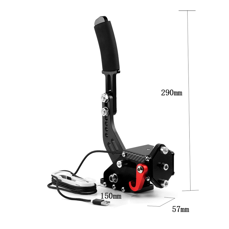 Nuevo-Logitech-Brake-sistema-de-14-bits-Hall-Sensor-USB-de-freno-de-mano-sim-para-Racing-GaR1S2 miniatura 5