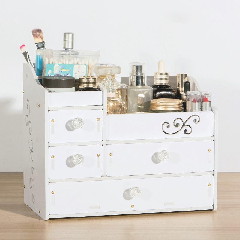 Plástico Maquillaje Organizador Contenedor de Joyería Diy Caja de Almacenam V6D8 2