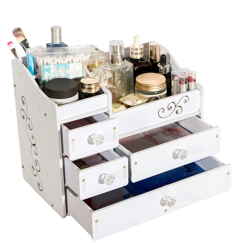 Plástico Maquillaje Organizador Contenedor de Joyería Diy Caja de Almacenam V6D8 7