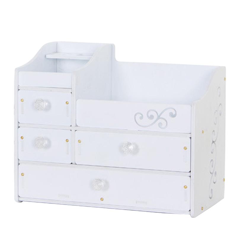 Plástico Maquillaje Organizador Contenedor de Joyería Diy Caja de Almacenam V6D8