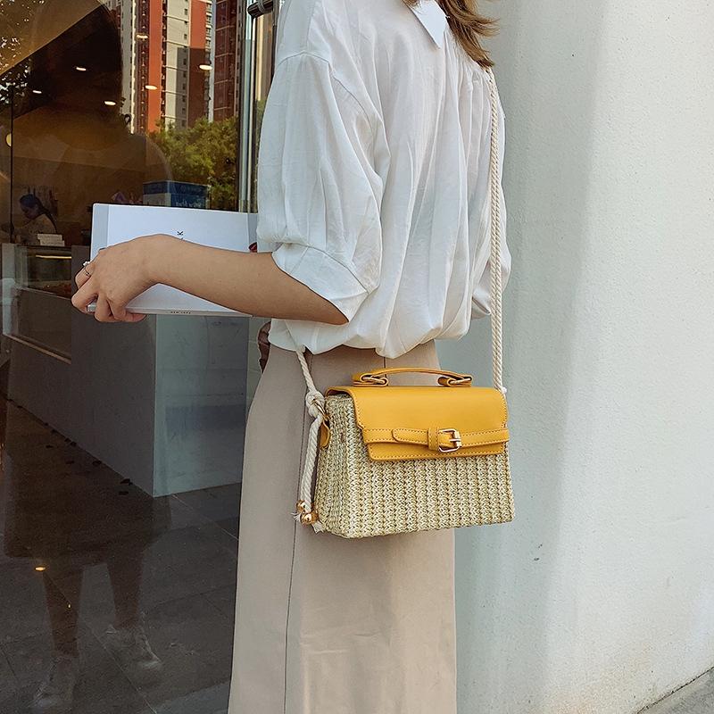 Stroh-Taschen-fuer-Frauen-Sommer-Neue-Mode-Umhaengetasche-Damen-Kleine-Geldboe-Q8M7 Indexbild 7