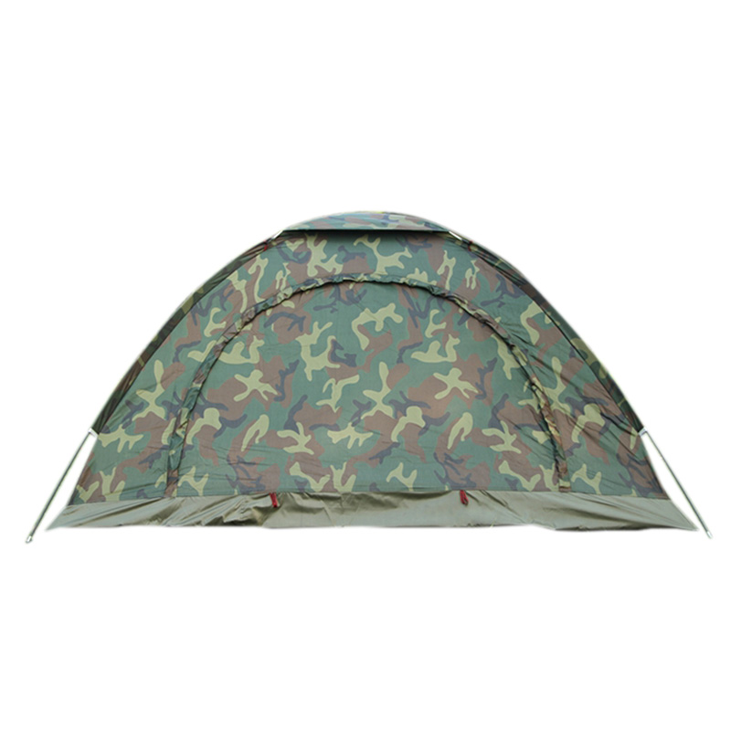 5X(Portable Outdoor Camping Camouflage Tent Outdoor Camping