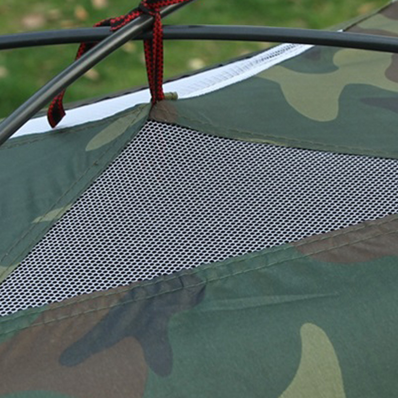 thumbnail 3 - Portable Outdoor Camping Camouflage Tent Outdoor Camping Recreation Couple  J1T2