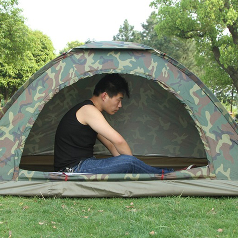 thumbnail 4 - Portable Outdoor Camping Camouflage Tent Outdoor Camping Recreation Couple  J1T2