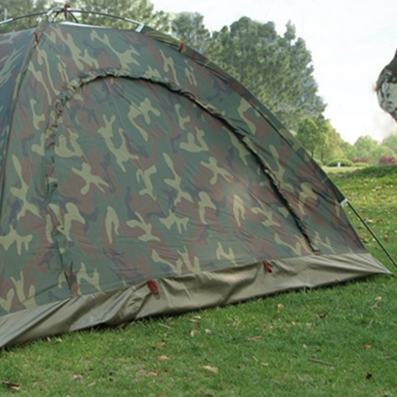 thumbnail 7 - Portable Outdoor Camping Camouflage Tent Outdoor Camping Recreation Couple  J1T2