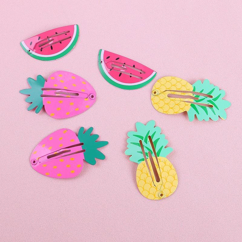 6Pcs-Set-Belle-Bande-Dessinee-Animal-Fruit-Epingle-a-Cheveux-N9B6 miniature 5