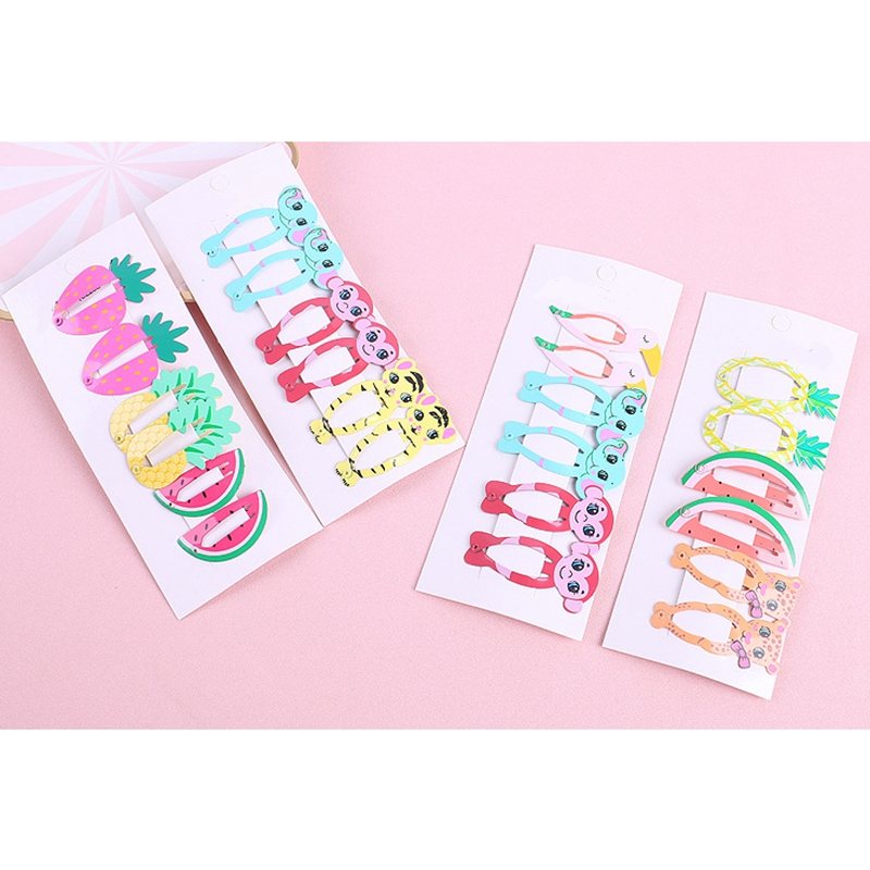 6Pcs-Set-Belle-Bande-Dessinee-Animal-Fruit-Epingle-a-Cheveux-N9B6 miniature 16