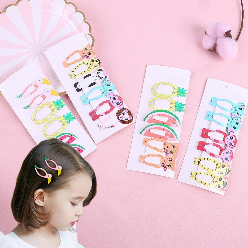 6Pcs-Set-Belle-Bande-Dessinee-Animal-Fruit-Epingle-a-Cheveux-N9B6 miniature 20