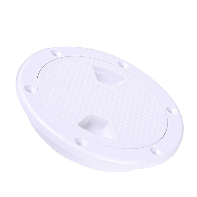 2X-4-Pouces-Rond-Serre-Aucune-Vis-Anti-Corrosif-Plaque-de-Plate-Forme-D-039-Ins-Z4U7 miniature 2