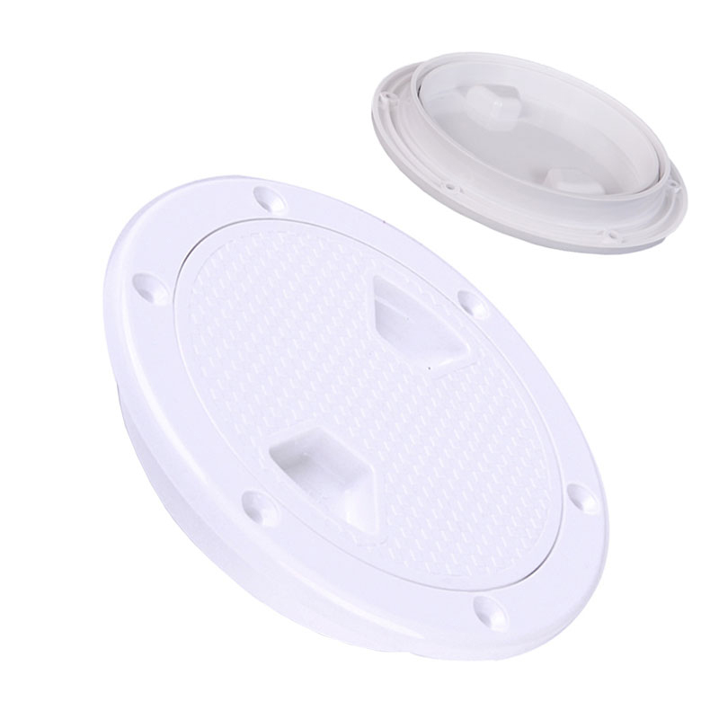 2X-4-Pouces-Rond-Serre-Aucune-Vis-Anti-Corrosif-Plaque-de-Plate-Forme-D-039-Ins-Z4U7 miniature 3