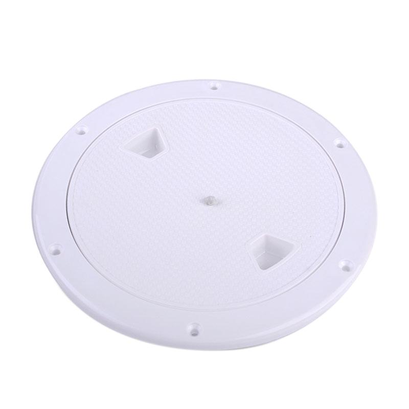 2X-4-Pouces-Rond-Serre-Aucune-Vis-Anti-Corrosif-Plaque-de-Plate-Forme-D-039-Ins-Z4U7