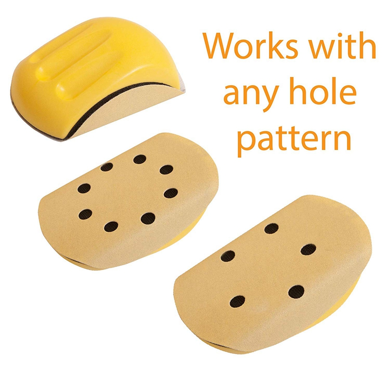 Hand-Sanding-Block-For-Hook-amp-Loop-Sandpaper-Hand-Pad-Polishing-Pad-Abrasiv-T3F6 thumbnail 8