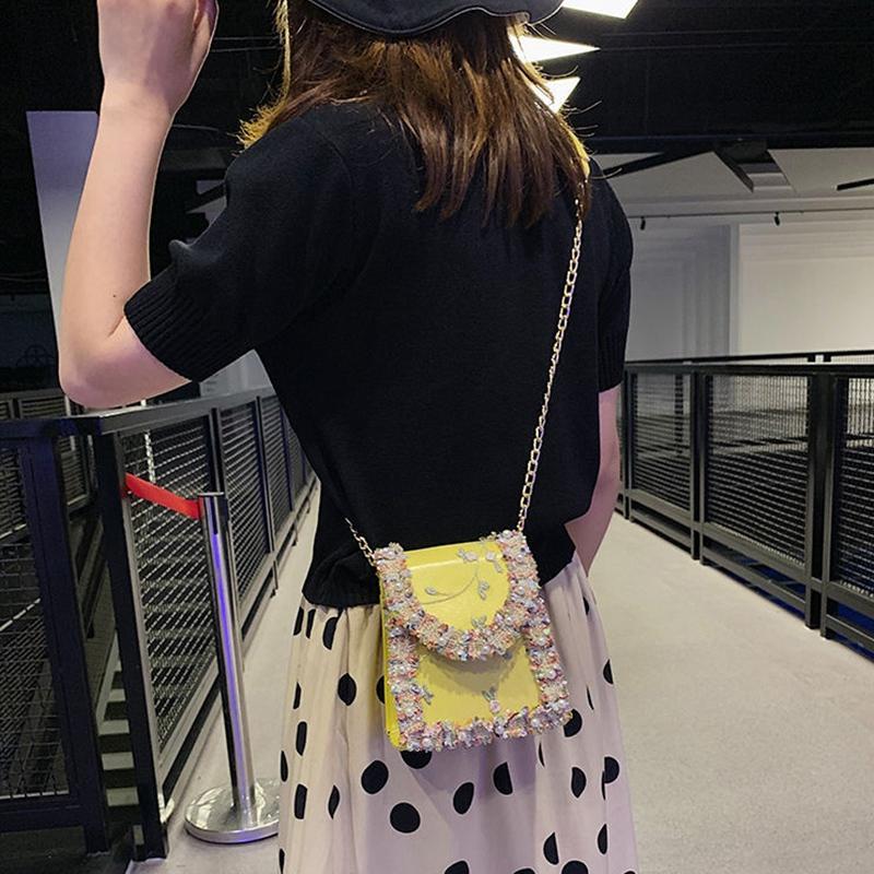Summer-New-Flip-Cover-Bag-Pu-Leather-Lace-Women-039-S-Handbag-Pearl-Flower-ChaiL3J3 thumbnail 3