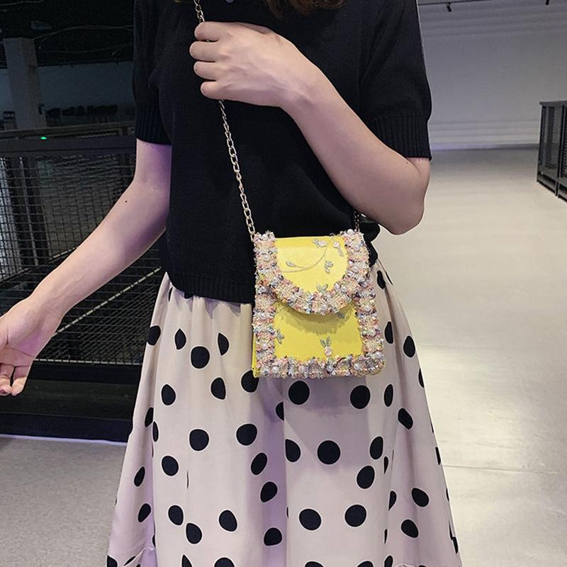 Summer-New-Flip-Cover-Bag-Pu-Leather-Lace-Women-039-S-Handbag-Pearl-Flower-ChaiL3J3 thumbnail 4