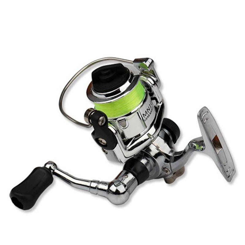 2X-Mini-Carrete-de-Pesca-2-1-Rodamientos-de-Bolas-Cebo-de-Acero-Inoxidabl-D5I9 miniatura 5