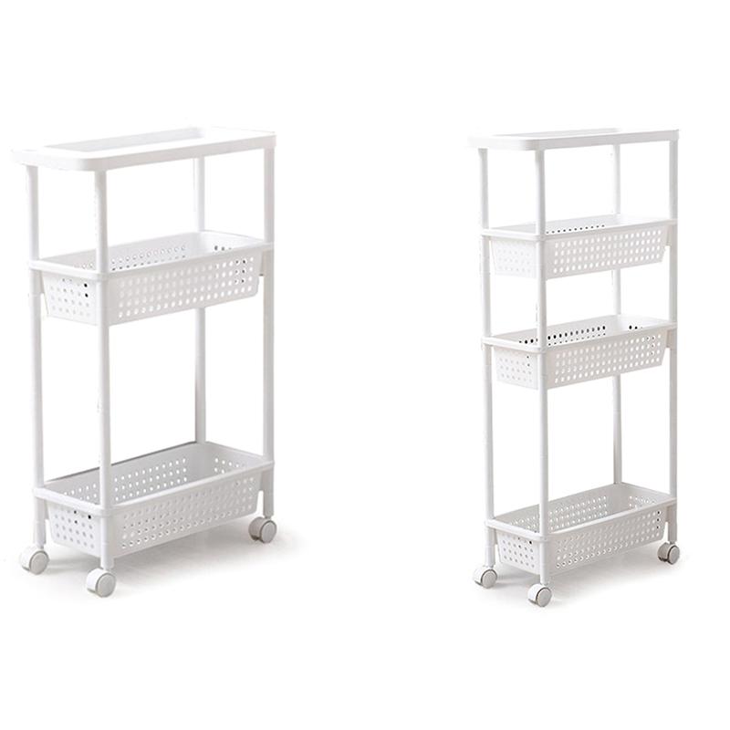 De rangement cuisine étagère Slim Slide tour mobile assembler en plastique salle de bain rack