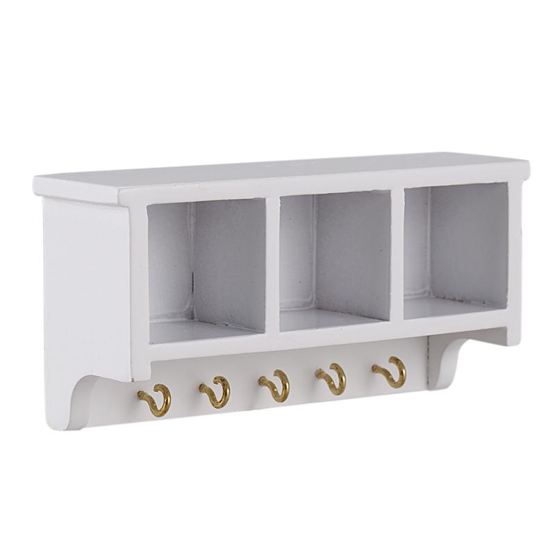 1//12 Miniature Dollhouse Kitchen Wood Wall Bracket White F3V8